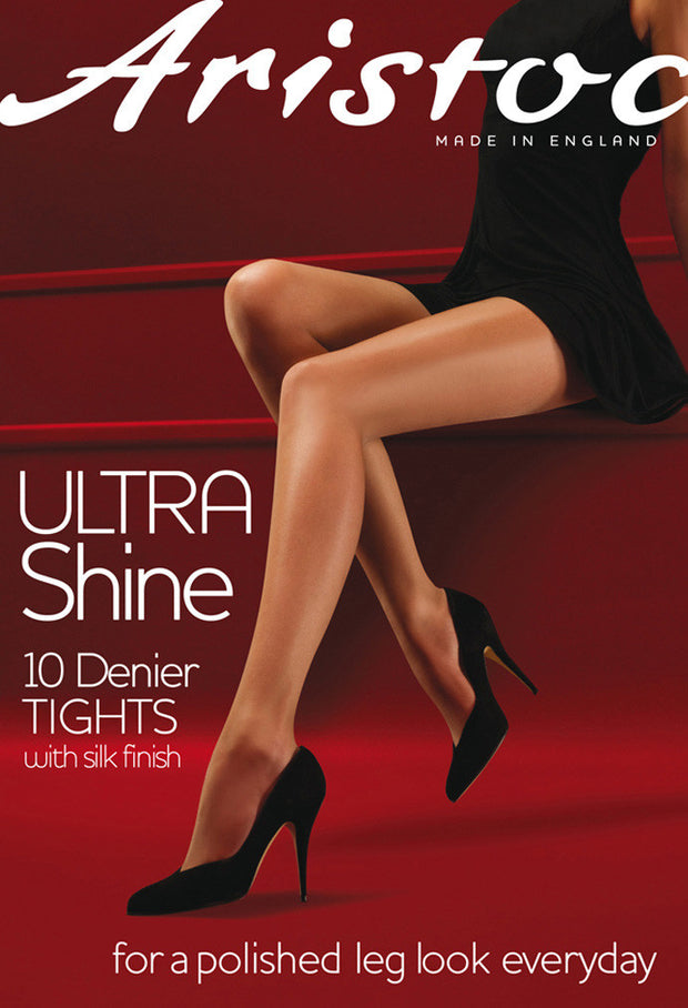 ULTRA GLOSS 10 DENIER SHEER TIGHTS FROM COUTURE BY SILKY NEW IN PACKET