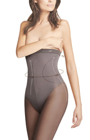 Fiore Body Care High Waist Bikini Cut Shaping Tights + Silver Anti Bac 40 Denier