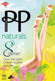 Pretty Polly Naturals 8 Denier Open Toe Tights
