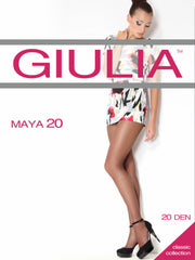 Giulia Maya 20 Denier Sheer to Waist Tights T-Band Slight Soft Sheen