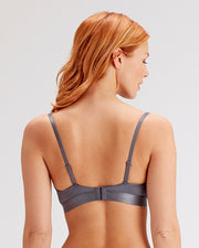 Botanical Lace Moulded Non Underwired Bra in grey