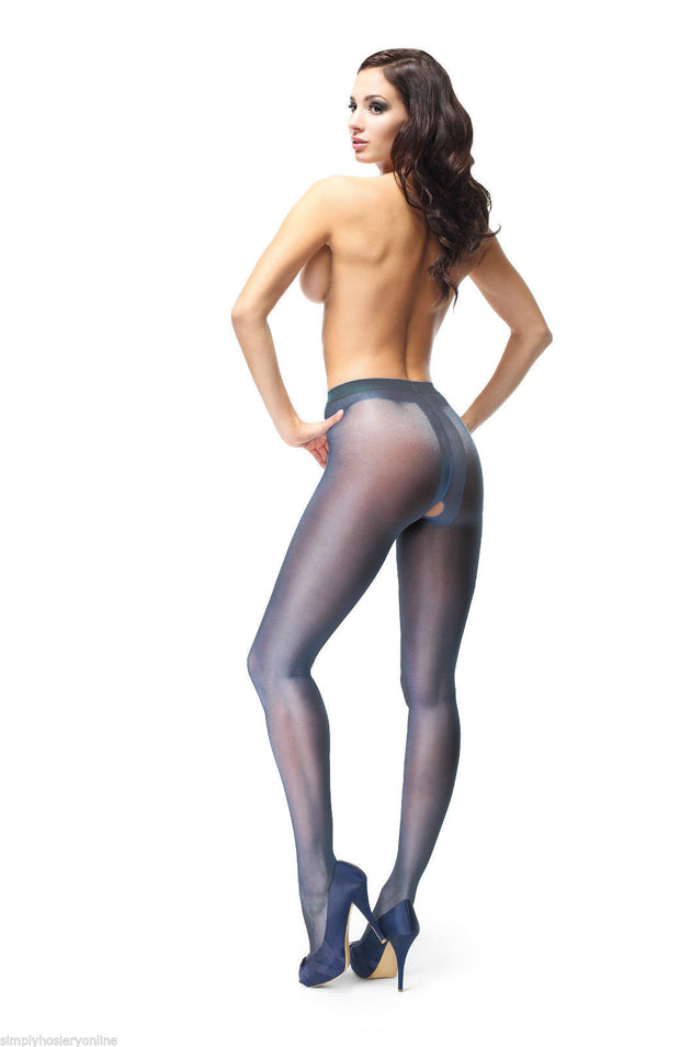 Miss O Open Gusset Crotchless Gloss Tights 20 Denier P101