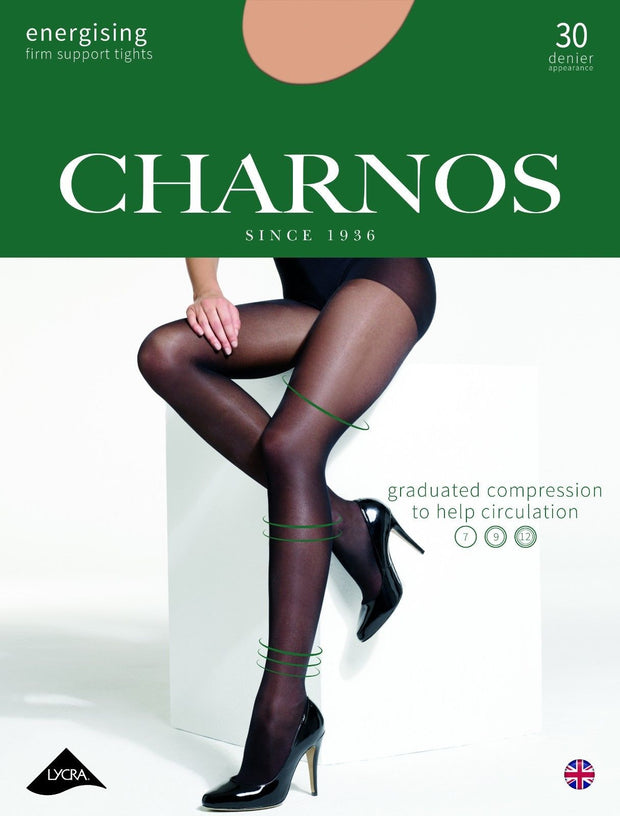 Charnos Energising Firm Support Tights 30 Denier Graduated Compression 7-12mmHg