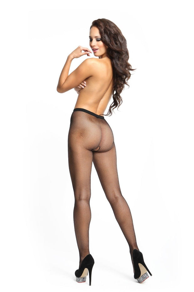 Miss O Open Gusset Small Mesh Fishnet Tights 20 Denier p602