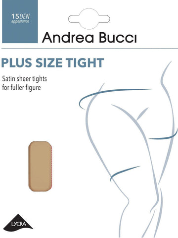 Andrea Bucci Plus Size 15 Denier Soft Sheen Tights Dress Sizes 20-24