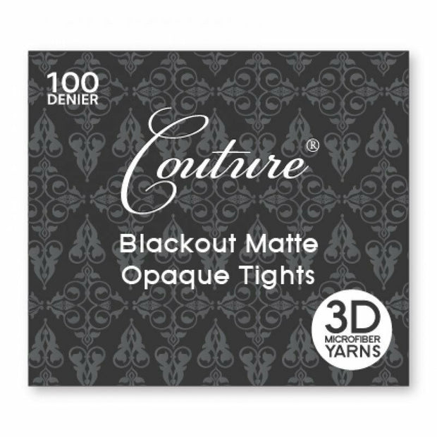 Couture 100 Denier Blackout Opaque Matte Tights