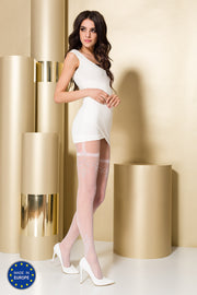 Passion TI108 Patterned STW Tights 20 Denier Sparkly Highlights Black or White.