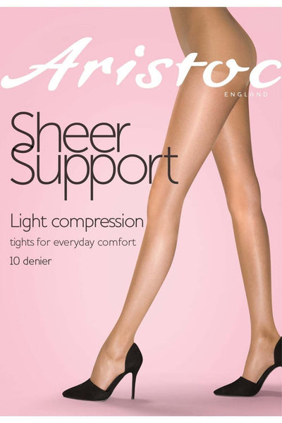 Aristoc Sheer Support Tights 10 Denier Graduated Light Compression Factor 6