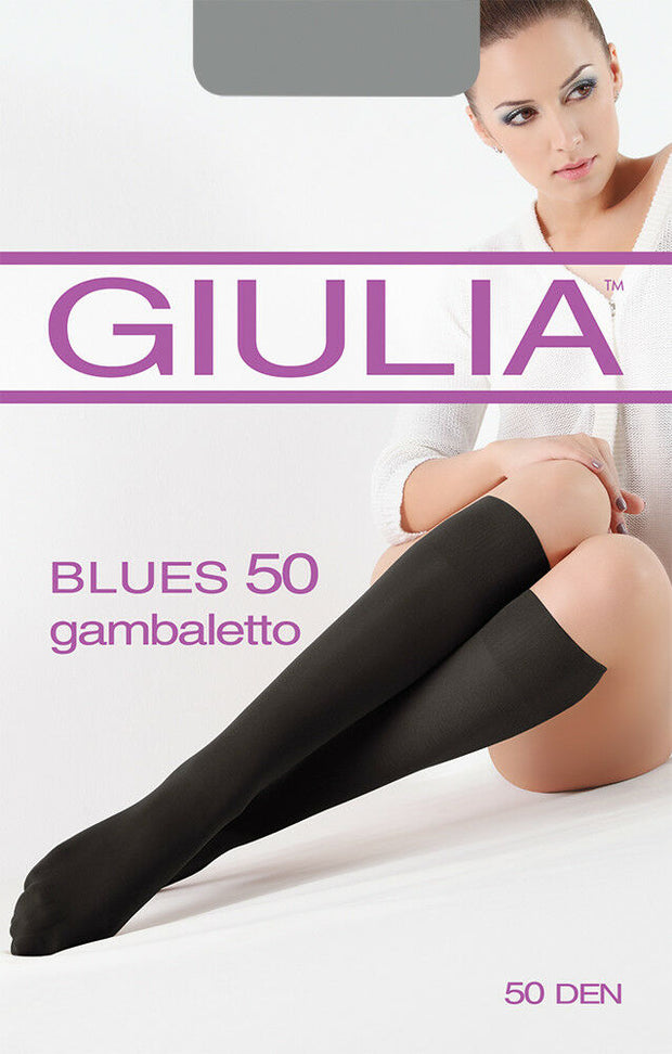 Blues Opaque Knee High Socks 50 Denier