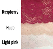 Bikini Dolce Amore Lace Knickers In Nude, Light Pink and Raspberry