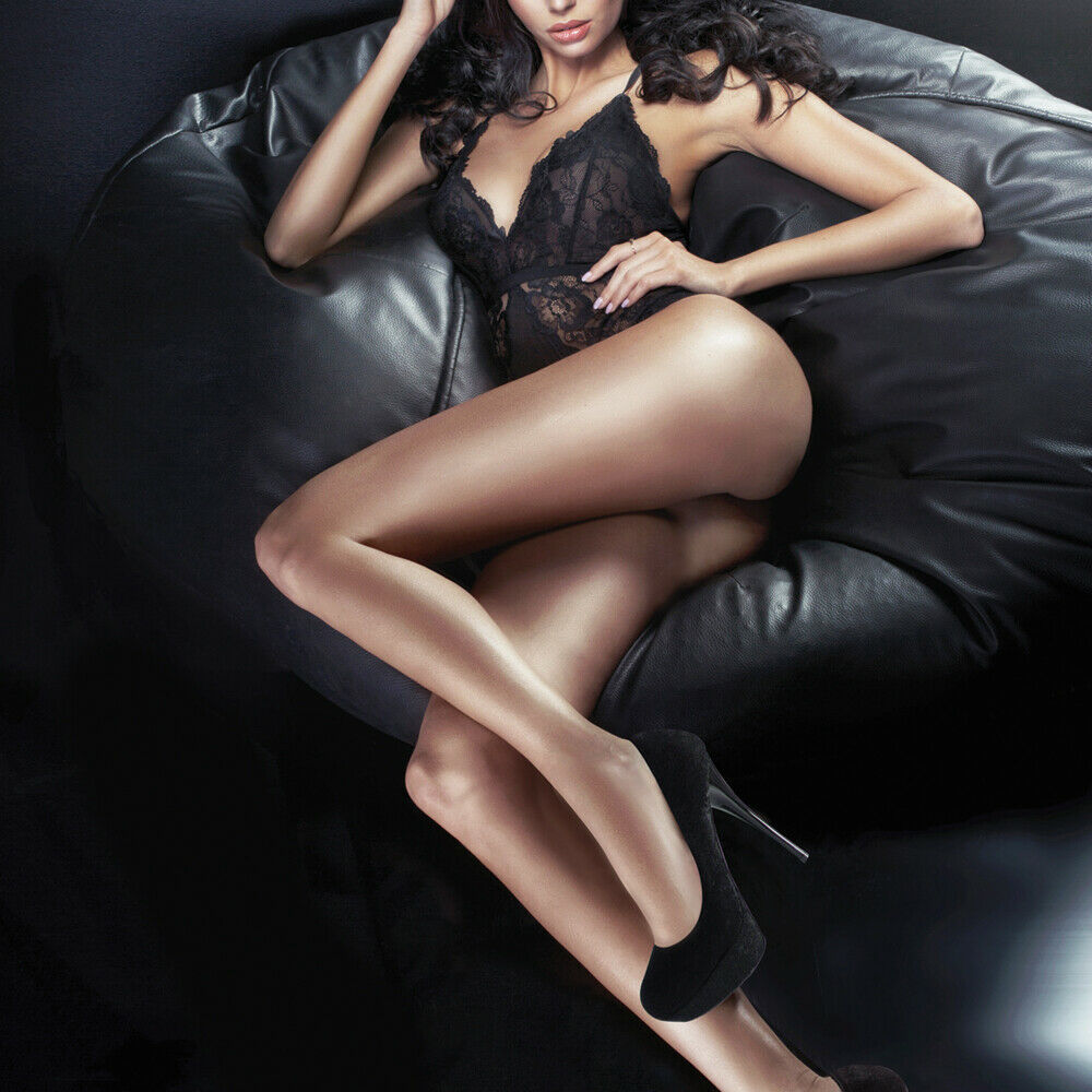 Couture Ultra Gloss Stockings 10 Denier Medium and Large Sizes 4 Color Choices
