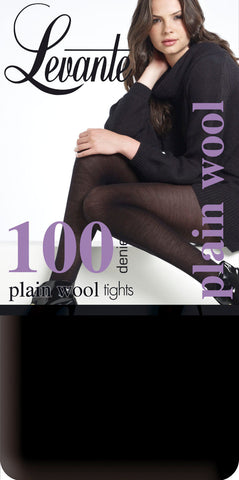 Levante 100 Denier Appearance WOOL Tights 70% Wool