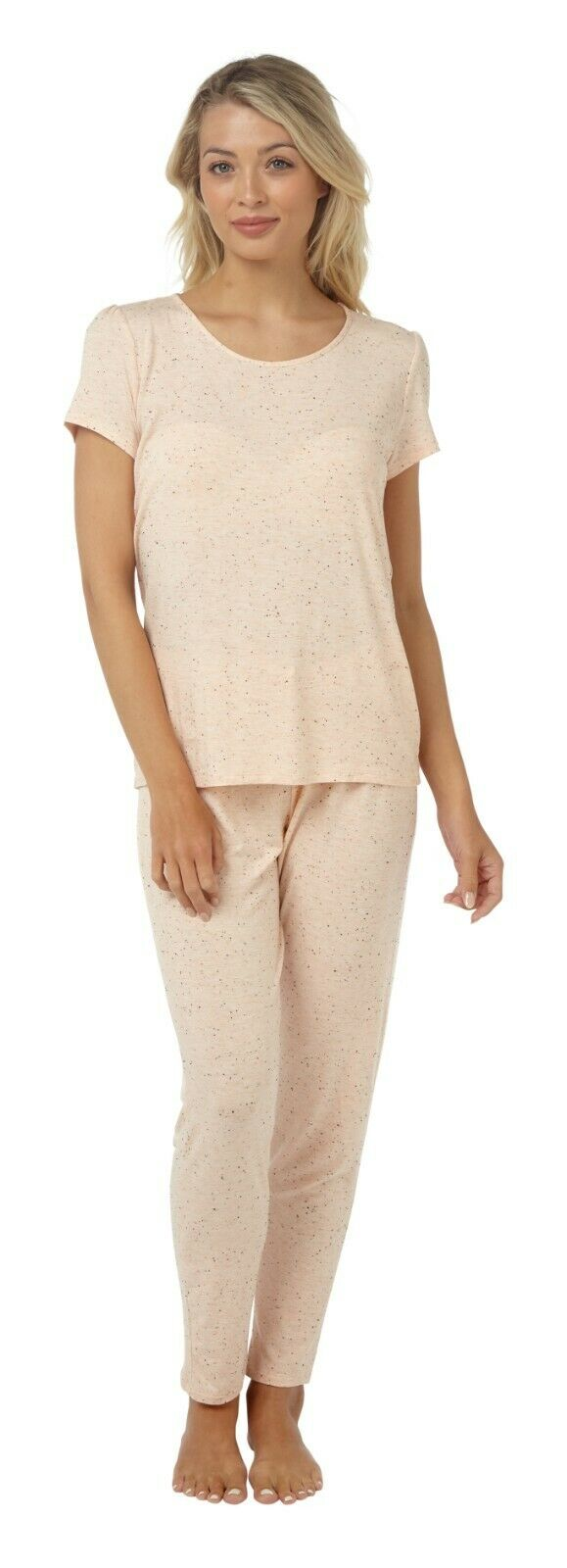 Peach Top and Trouser PJ Set