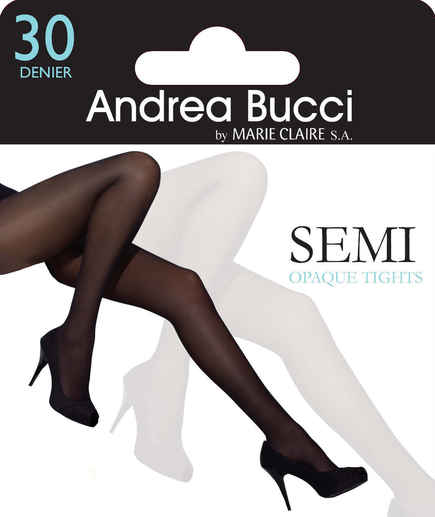 5fee962d386f6 Andrea Bucci 30 Denier Semi - Opaque Slight Sheen Tights 3 Color Choic –  Simply Hosiery Online