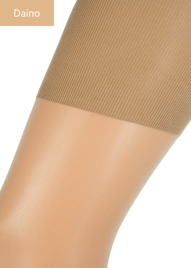 Giulia Talia Control High Waist 20 Denier Opaque Tights + Silicone Band to Hold