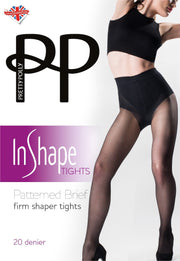 Pretty Polly In Shape Firm Shaper Tights Patterned Brief 20 Denier