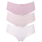 Olivia Bikini, Cheeky Shorts or thong 3 Pair Pack Pinks