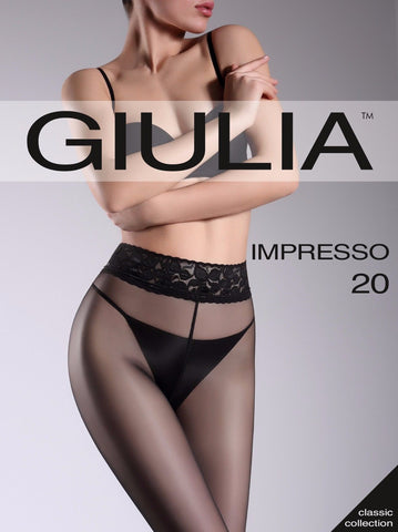 Giulia Impresso 20 Denier Sheer To Waist Lace Top Tights