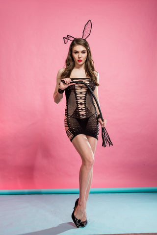 Cindylove The Sophia Body Stocking Large fishnet babydoll Dress