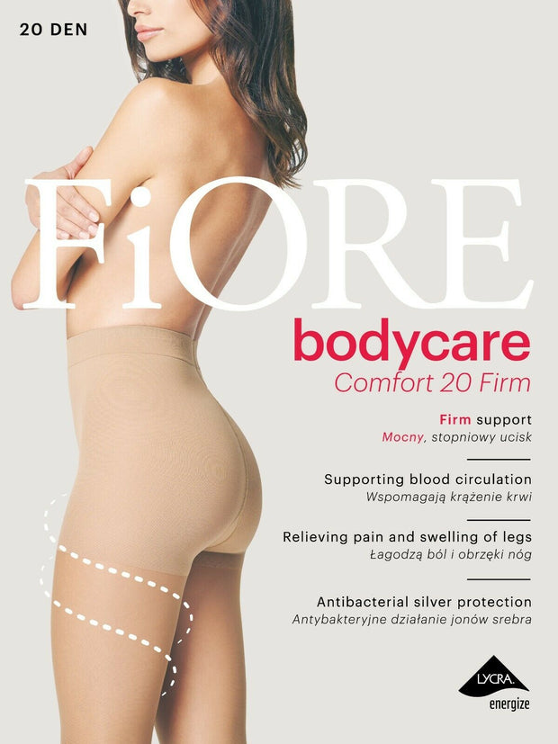 FiORE Body Care Comfort FIRM Support Tights Anti Bac 20 Denier New 11-14mmHg