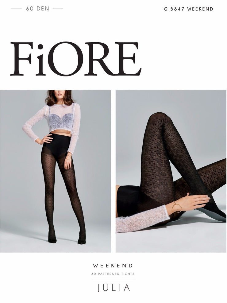 Fiore Weekend 3D Opaque Tights 60 Denier Slight Satin Sheen 2 colour choices