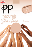 Pretty Polly Naturals Skin Tones Sheer Tights 8 Denier - 6 shades to suit many
