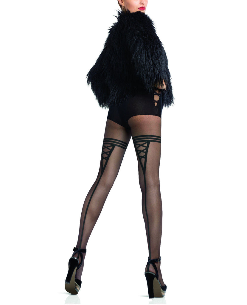 09cb93f2eb8 Le Bourget Collant Emotion 20 Denier Patterned Tights Fancy brief   Ba –  Simply Hosiery Online