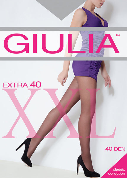 Giulia Extra 40 Denier Plus Size Tights Fuller Figure pantyhose