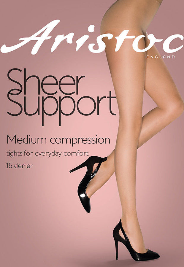 Aristoc Sheer Support Tights 15 Denier Graduated Medium Compression Factor 8