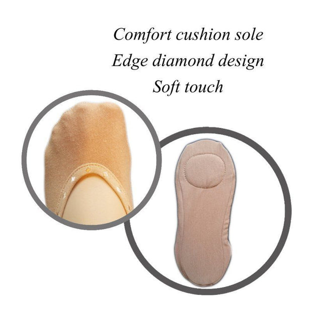 Silky Cushion Sole Footsies No show liners for pumps and ballerina shoes