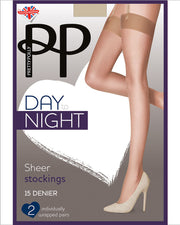 Pretty Polly Day to Night Sheer Stockings 15 Denier 2 Pair Pack