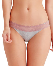 Casual Comfort Knickers Underwear Grey and Pink Lace