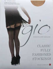 Gio Havana Heel Seamed Fully Fashioned Stockings 15 Denier - One Colour