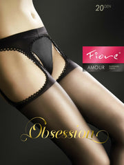Fiore Amour Obsession Sheer Suspender Tights 20 Denier