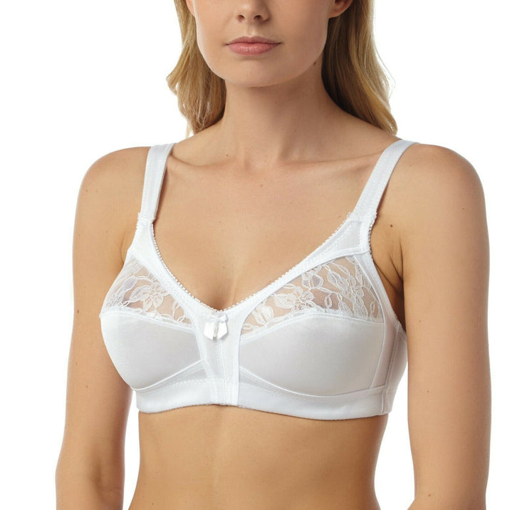 Marlon Firm Control No Underwire Bra in Black or White 34-48 B C D E
