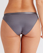 Botanical Lace Brief Knickers grey