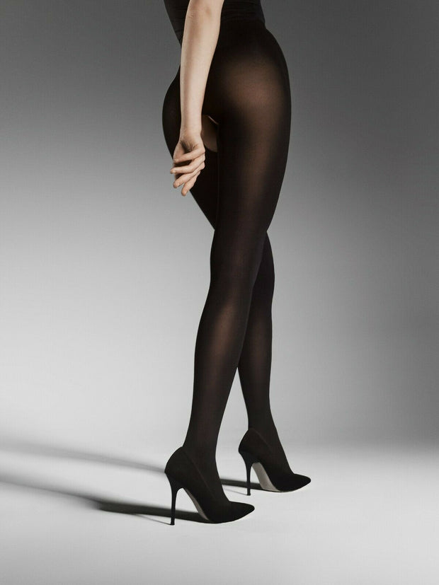 FiORE Ouvert Open Gusset Opaque Tights 80 Denier