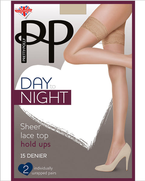 Pretty Polly Day to Night Sheer Hold Ups 15 Denier 2 Pair Pack