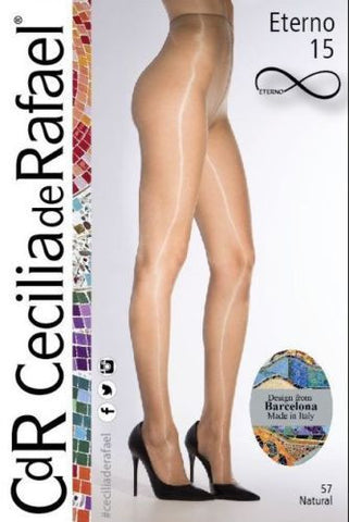 Cecilia De Rafael Eterno 15 Denier Tights High Gloss Pantyhose No Waistband