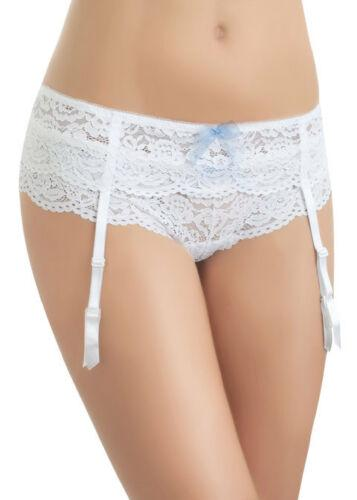 B.Tempt'd Ciao Bella Bridal White Suspender belt