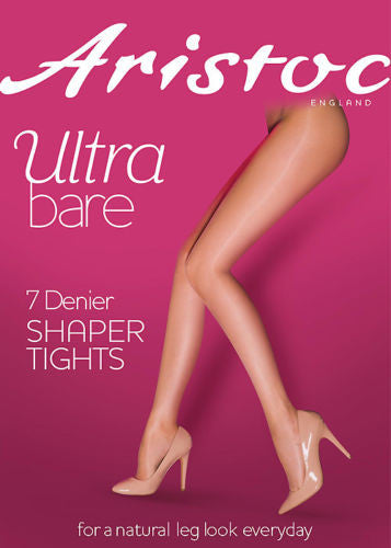 Aristoc Ultra Bare 7 Denier Shaper Tights Medium Control Top body Sideria® yarn