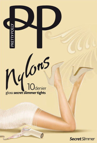 Pretty Polly Nylons Secret Slimmer 10 Denier Gloss Tights Medium Control Top