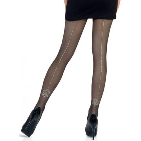 Le Bourget Collant Magie 20 Denier Glitter Dot Back Seam Pattern Tights