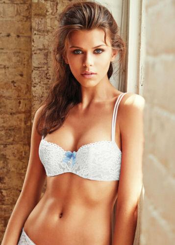 B.Tempt'd Ciao Bella Bridal White Balconette Bra