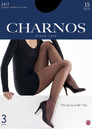 Charnos 24/7 Custom Made for Curves Tights 15 Denier 3 Pair Pack