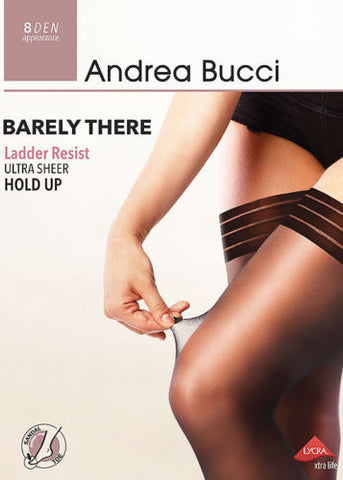 Andrea Bucci Barely There Ladder Resist Ultra Sheer Hold Ups 8 Denier
