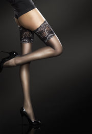 Fiore Sandrine 20 Denier Lace Top Hold Ups