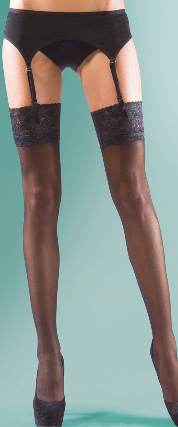 Silky Super Shine Luxury Lace top Gloss Stockings 15 Denier