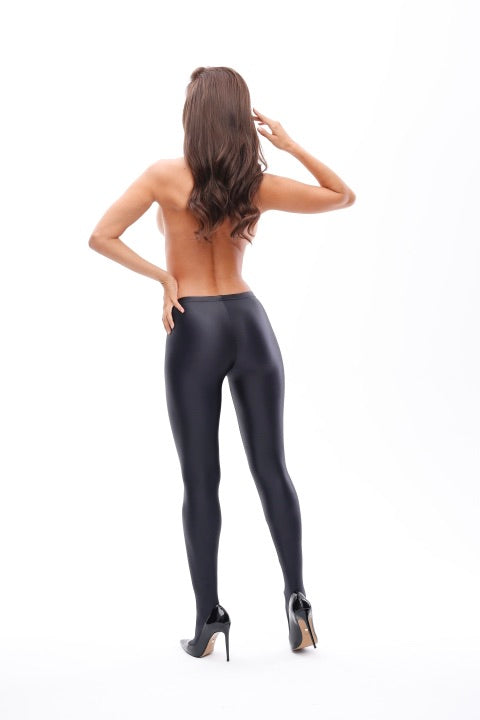Wet Look Gloss Opaque Tights 120 Denier Lycra Xtra Life T800