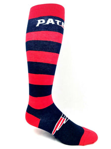 Patriots Red/Navy Blue Striped Knee High Socks